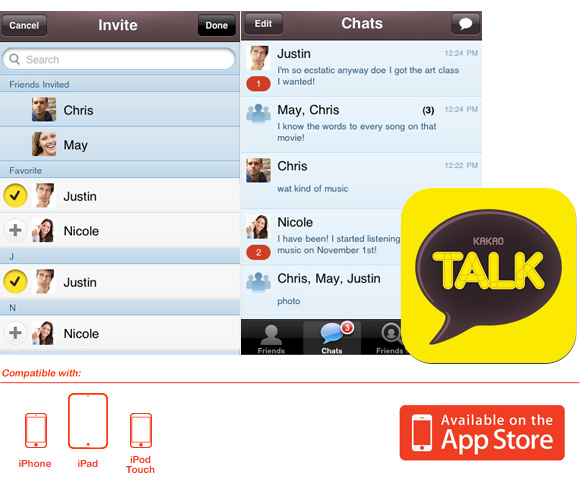Download Kakao Talk Free Segala Handphone