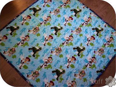 ProsperityStuff Finished Baby Quilt, Buzz, Woody, Jessie, Rex