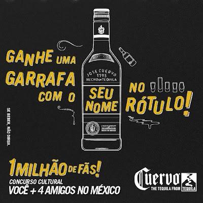 """Concurso Cultural  """"1 milhão de fãs de Cuervo"""""""