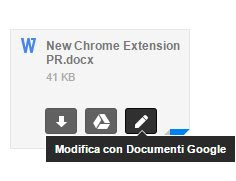 modifica allegati Office in gmail
