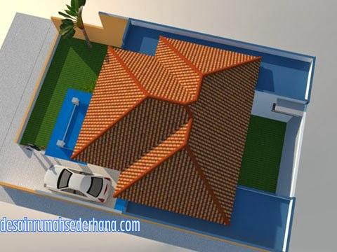 Desain rumah type 120/220 - atap