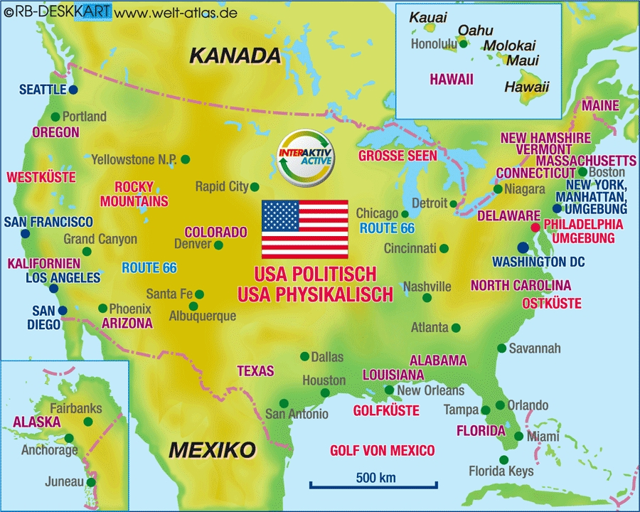 Mapa Geografico Usa - Mapas usa