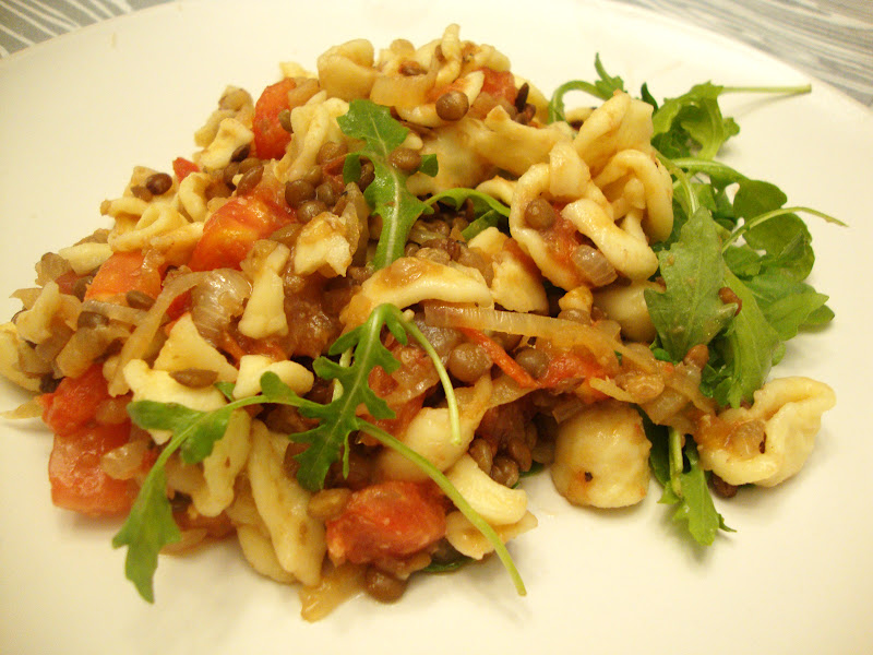 Pasta With Lentils And Arugula Recipe — Dishmaps