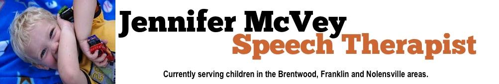 Jennifer McVey Speech Therapy