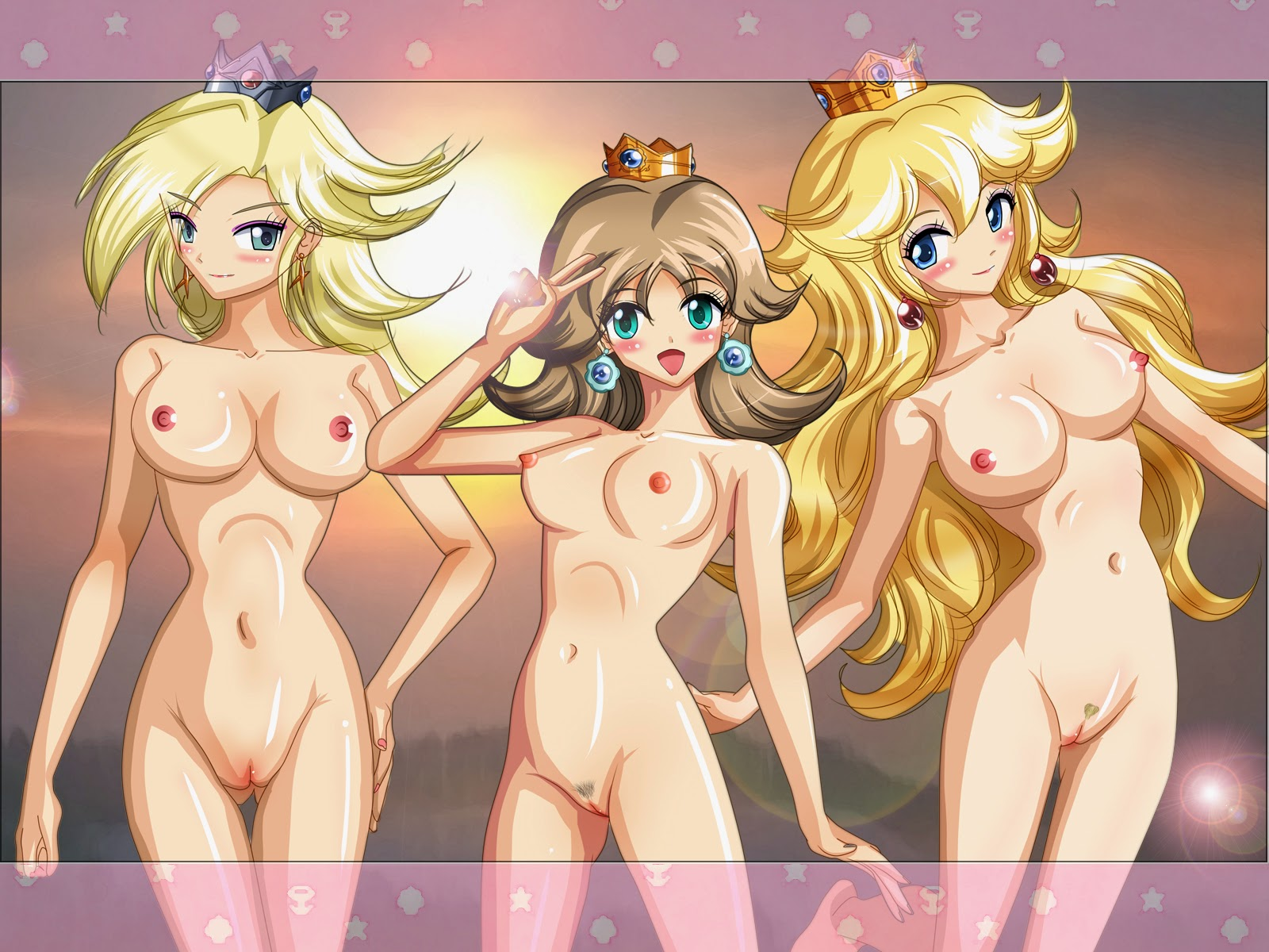 rosalina and peach naked