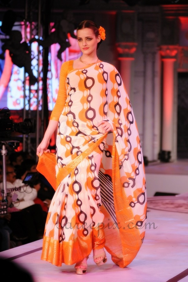 Models-ramp-walk-printed-Rajguru-sarees