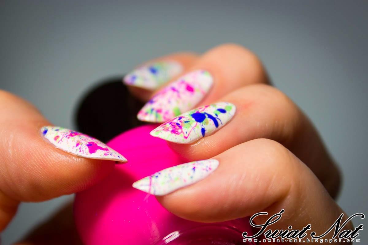 seche vite nailart nails allepaznokcie blue white pink neon