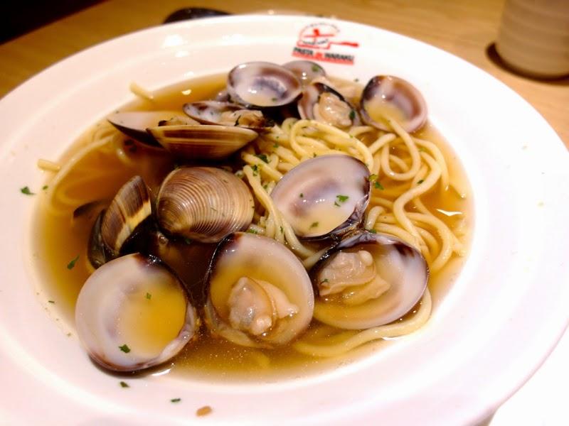 Pasta De Waraku Restaurant Changi Airport Terminal 2 Outlet Japanese Food Clam Soup Pasta Review lunarrive blog Singapore