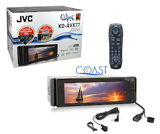JVC KD-AVX77 WIDESCREEN DVD/CD/MP3/WMA RECEIVER W/BLUETOOTH & REMOTE