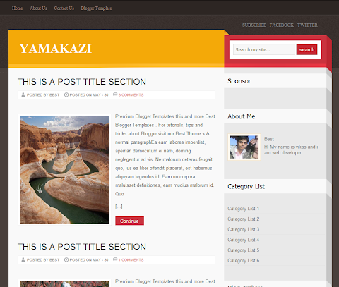 Yamakazi Blogger Theme