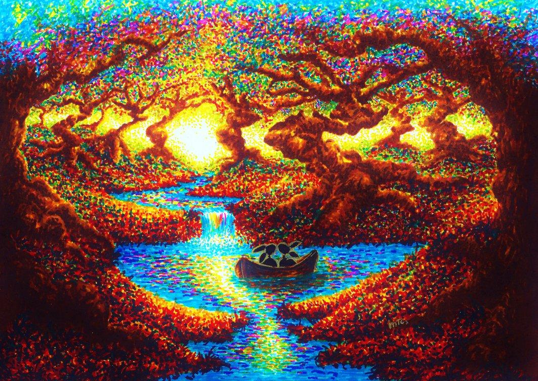 08-Eternity-XBUDDYFORME-Modern-Impressionist-Style-Applied-to-Vivid-Drawings-www-designstack-co