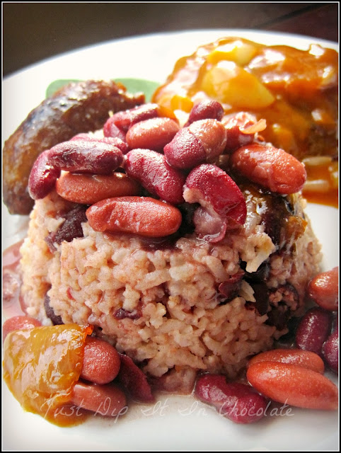 Rice and Beans with Coconut Milk Recipe, simple comfort food, this is the marriage of a classic Southern favorite with a hint of Caribbean flair! #rice #beans #coconut #Southernfood #Caribbeanfood #comfortfood
