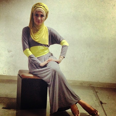 Model Hijab Modis Stylish Artis Arzetti Bilbina Terbaru 2014