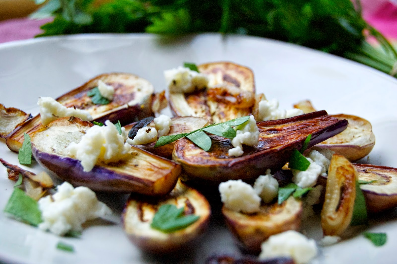 Fairytale Eggplant with Farmers Cheese | www.kettlercuisine.com