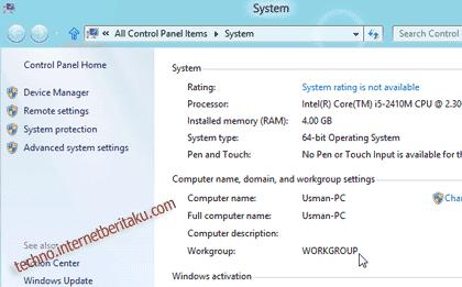 Windows 8 Workgroup
