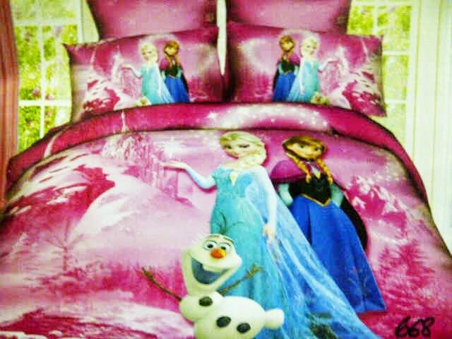 Sprei Anak Pink Motif Frozen