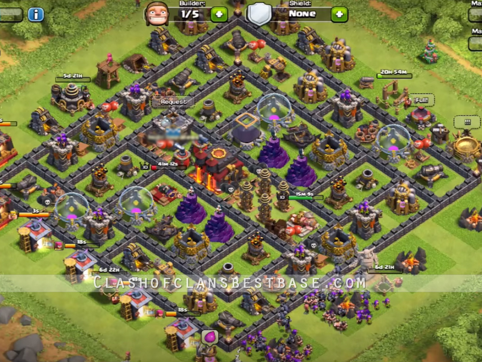 Well as th9 base war in addition troll pushing town hall 9 trophy base