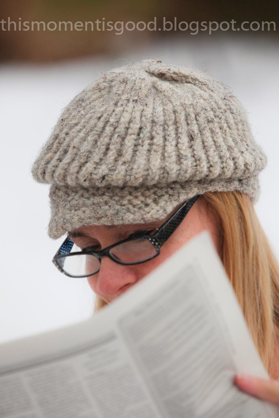 Loom Knit Hat Patterns Free : Loom Knitting by This Moment is Good!: LOOM KNIT FELTED NEWSBOY HAT
