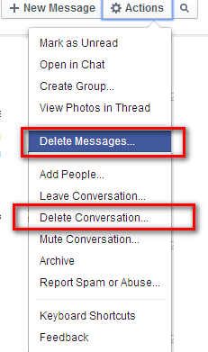 How to delete facebook message or facebook conversation tips 4 if you selected delete conversation then click on delete conversation ccuart Image collections