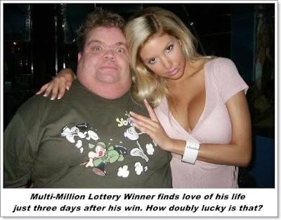 Lottery winner humour