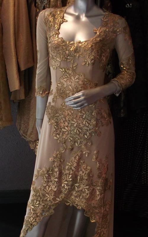Arany csipke női ruha - Kaláka Collection