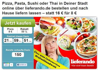 DailyDeal: 16-Euro-Lieferando-Gutschein für 6,80 Euro