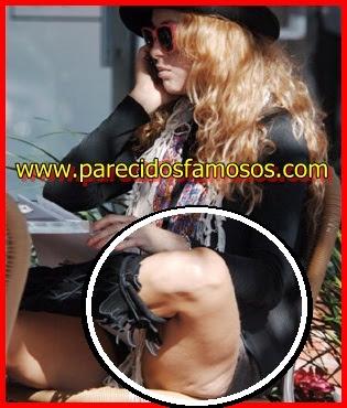 Paulina Rubio con celulitis