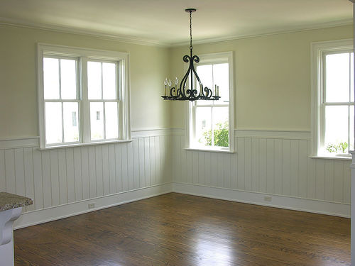 Dining rooms with beadboard the drawing room interiors for Dining room paneling