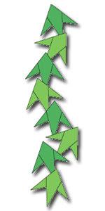 Origami Dekorasi Daun Bambu