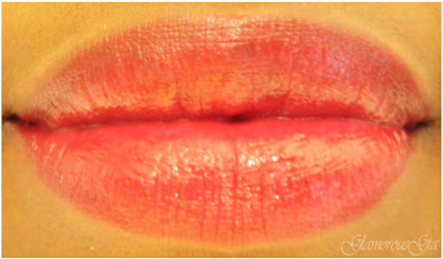 Lipstick review and swatch of GOSH velvet touch lipstick 139 Hot'N Sweet bright red color.