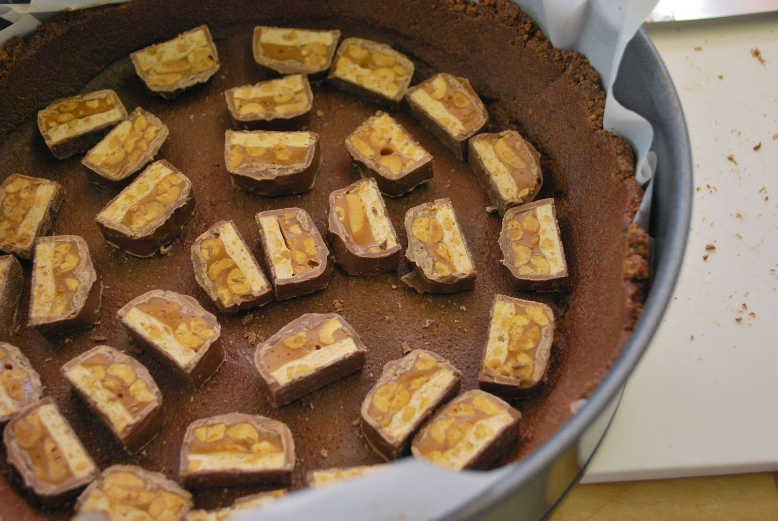 ... with the peanut butter cheesecake I was swimming in peanut brittle