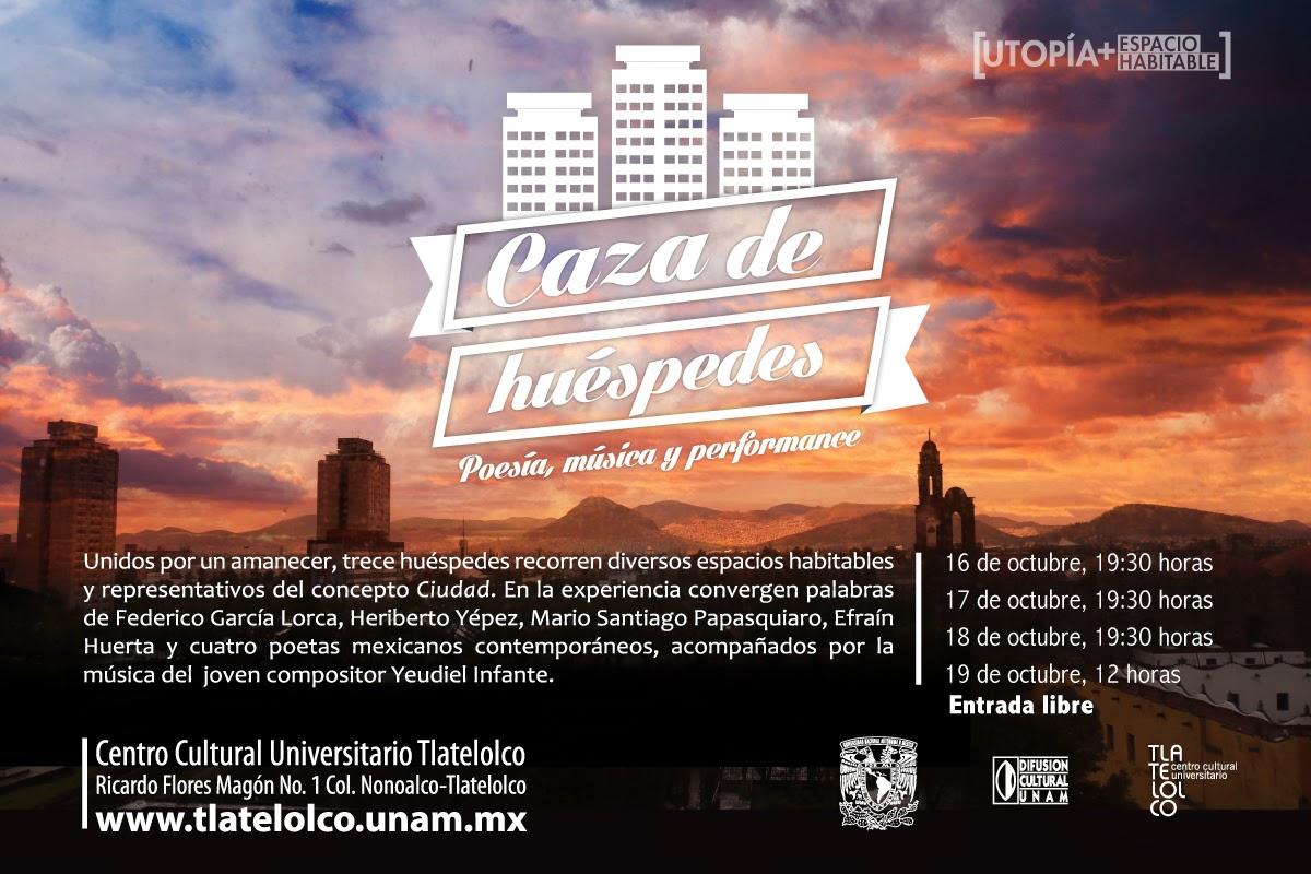 Lectura dramatizada, música y poesía en Tlatelolco con Caza de Huéspedes