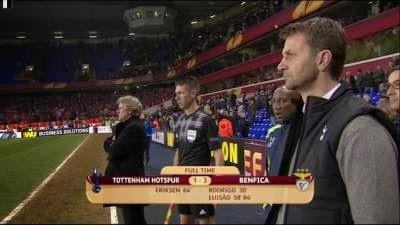 Spurs vs Benfica report