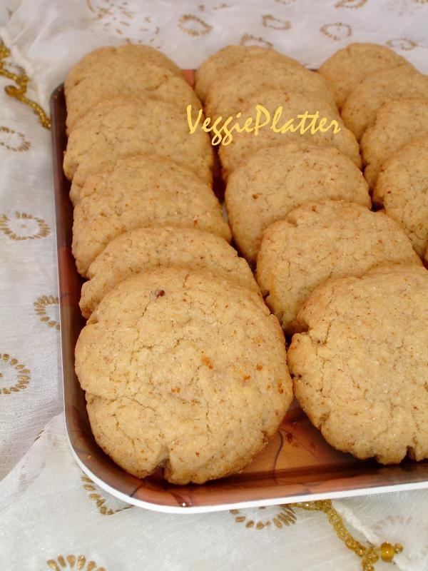 Veggie Platter: Almond Shortbread Cookies