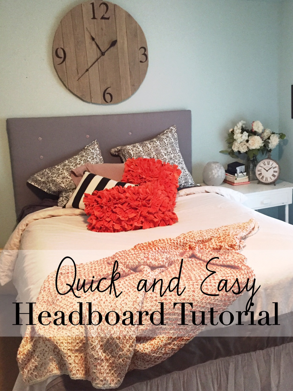 quick and easy headboard tutorial- The Style Sisters