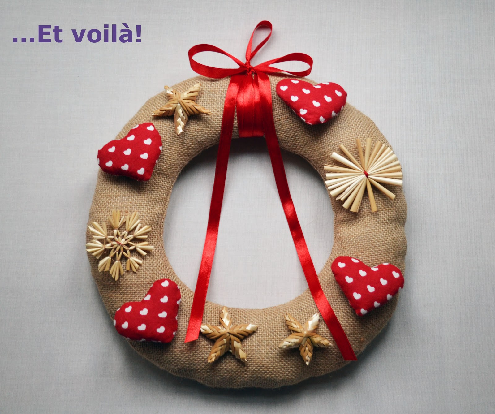 Funky sunday ma couronne de no l diy - Decor de noel a fabriquer ...