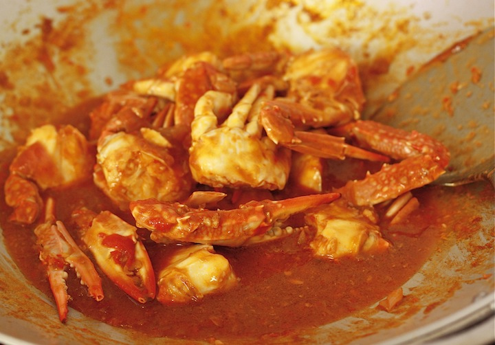 how long to cook chili crab?