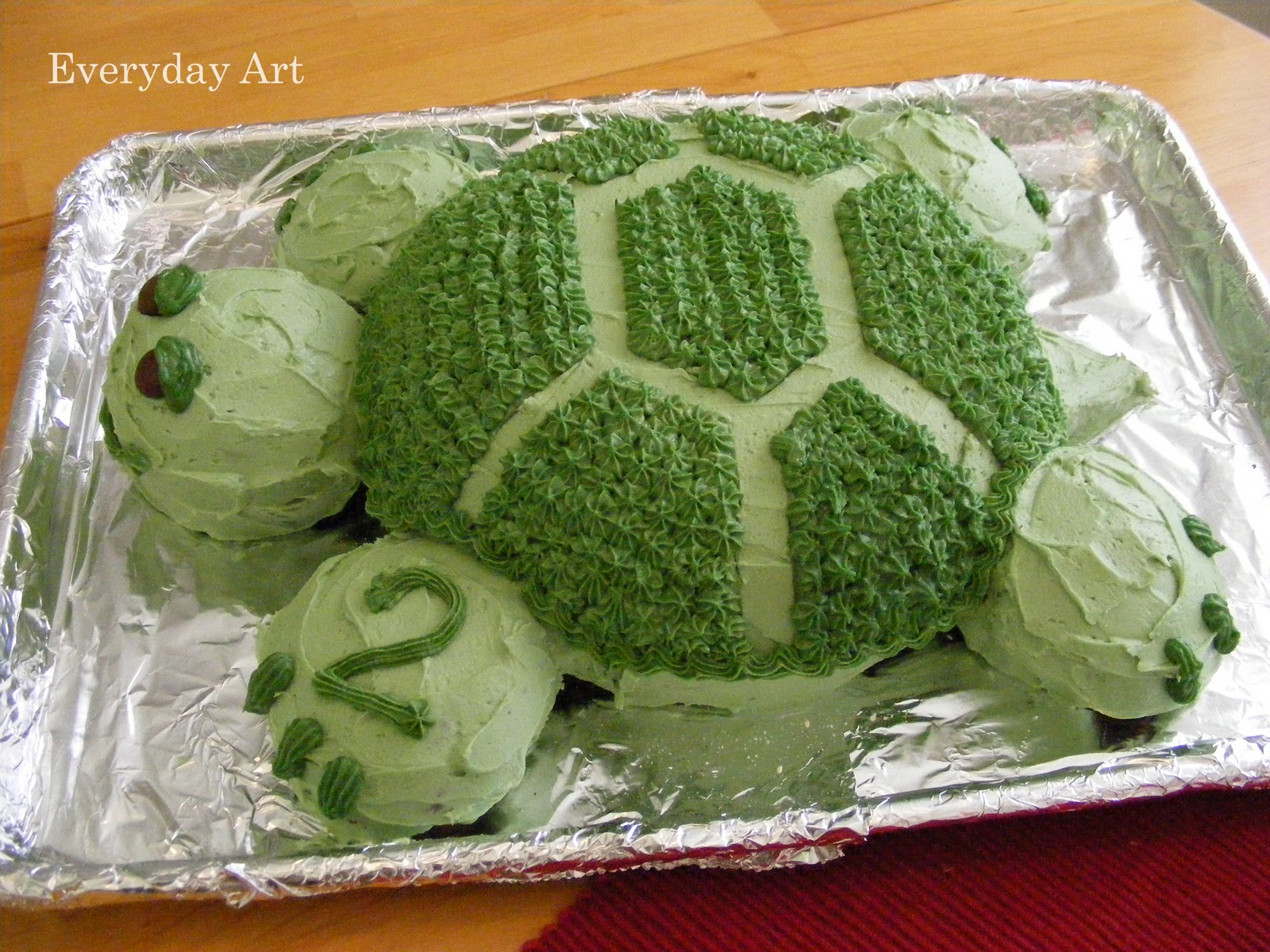 Everyday Art Turtle Birthday Cake