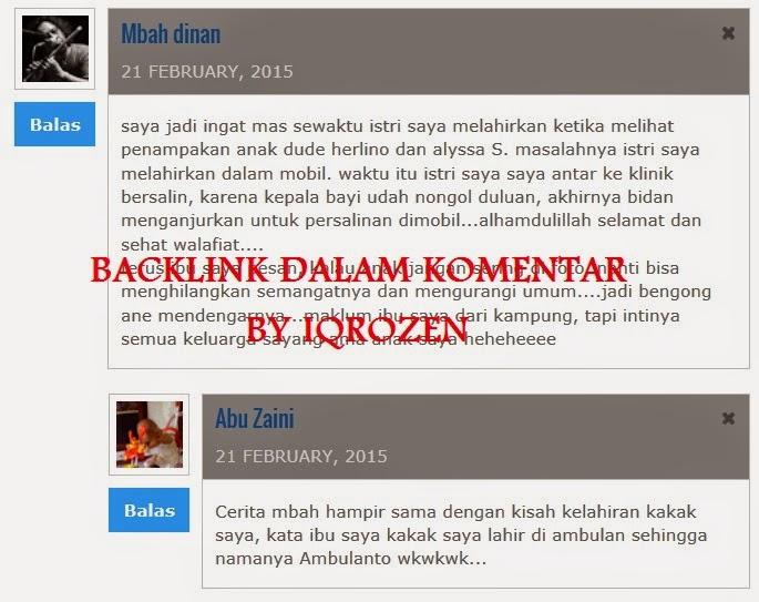 Free Backlink Dari Komentar Bermutu