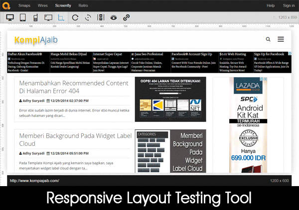 Responsive Layout Testing Tool
