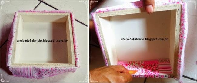 Caixa de MDF Forrada com Tecido, casamento, diy, diy casamento,