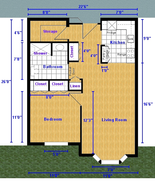 Apartment Plans 2 Bedroom 2 Bath
