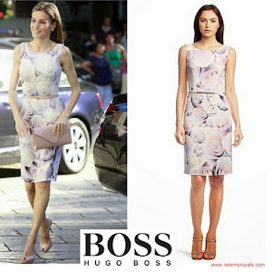 Queen Letizia Style HUGO BOSS Dress