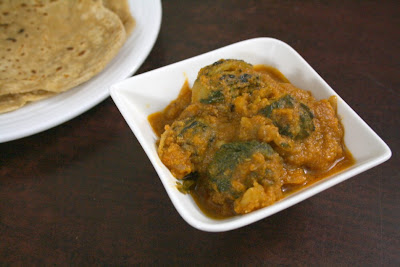 Aloo Stuffed Karela Subji