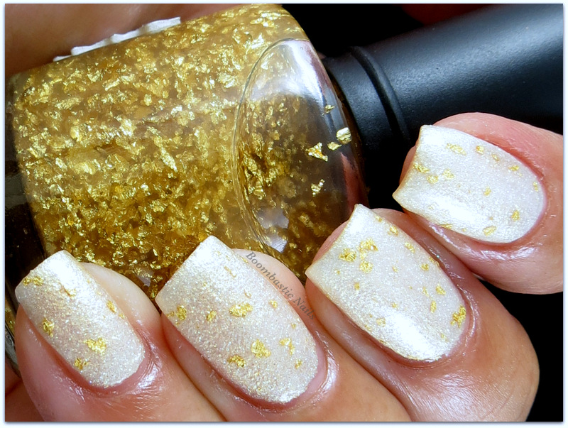 Boombastic Nails: Gold Flake topcoat