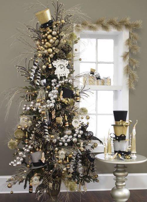 Slim christmas tree decorating ideas 2012