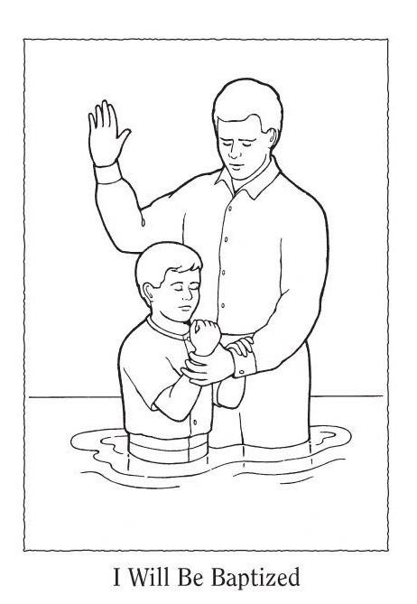 baptism coloring pages for children - photo#18