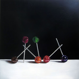 realistic lollipop painting by  jeanne vadeboncoeur