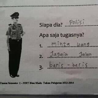 Tugas polisi: minta uang