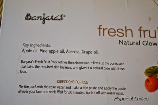 Banjara's Fresh Fruit Face Pack
